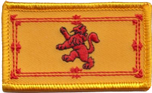 Scotland Lion Rampant Small Rectangular Embroidered Patch (a213)